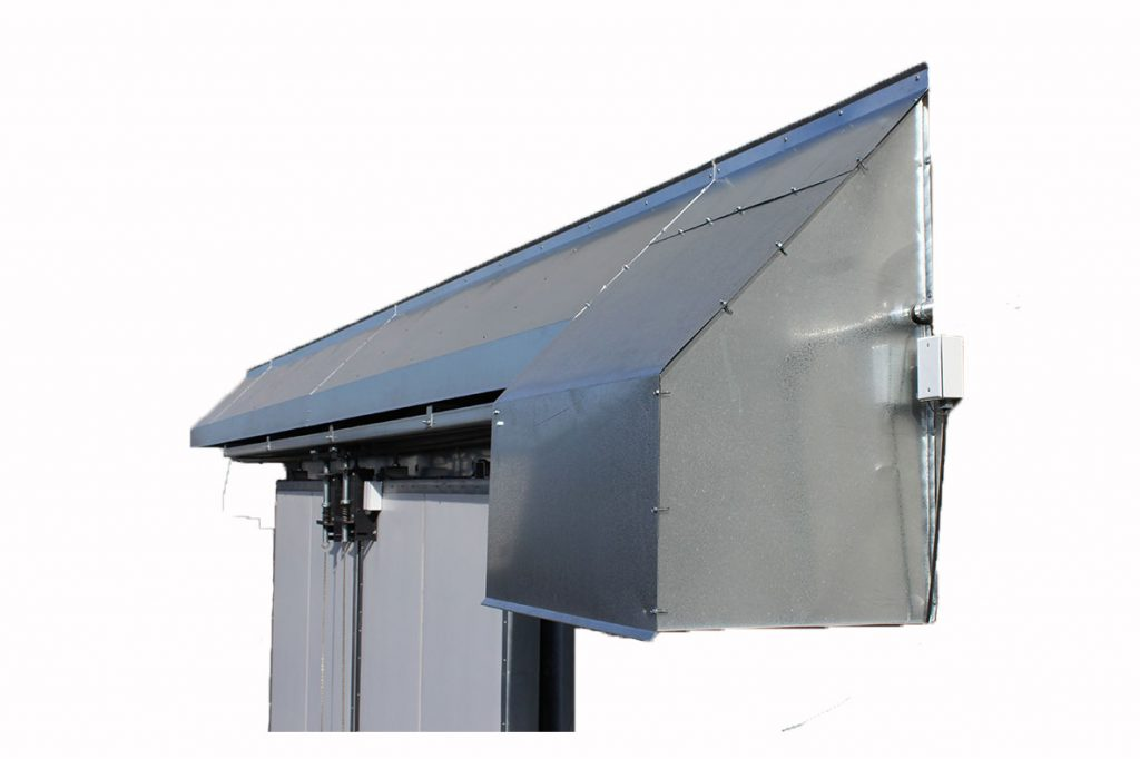 Bi-Parting Door Inclement Weather Hood  sc 1 st  Parts u2013 Specialty Insulated Doors : door hood - pezcame.com